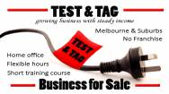 Test and Tag business, part time hours, great profits, no lease or landlords to worry about